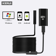 KERUI Wireless 1M 2M 5M WiFi HD 720P 8mm Endoscope Camera Wifi Outdoor USB Endoscope Borescope Inspection Android iPhone Camera stardot 8mm lens wifi wireless endoscope inspection camera waterproof borescope for iphone ios windows android 1m 2m 3 5m cable