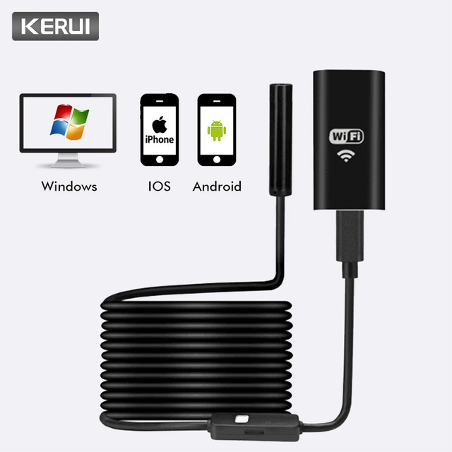 KERUI Wireless 1M 2M 5M WiFi HD 720P 8mm Endoscope Camera Wifi Outdoor USB Endoscope Borescope Inspection Android iPhone Camera