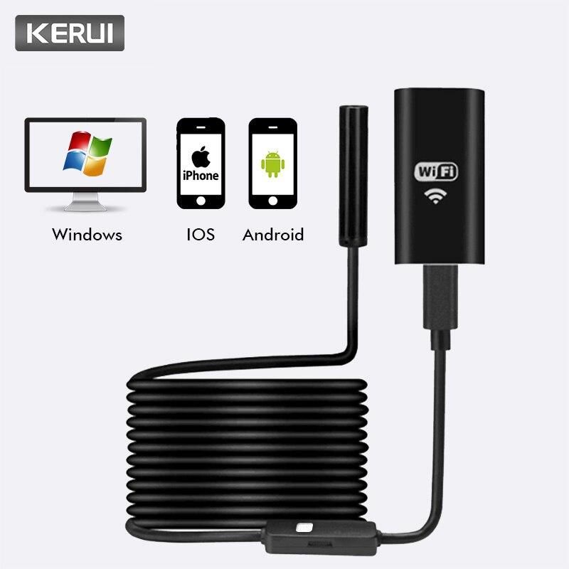 KERUI Wireless Mini Waterproof 1M 2M 5M Wifi HD 720P 8mm USB Endoscope Borescope Inspection Camera For IOS Iphone Android Phone