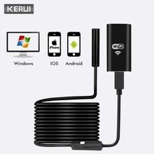 KERUI беспроводной мини водостойкий 1 м 2 м 5 м WiFi HD 720 P 8 мм USB эндоскоп бороскоп Инспекционная камера для IOS iPhone Android телефон