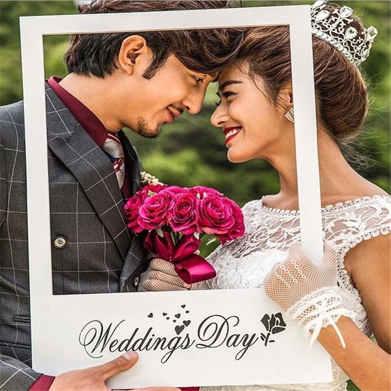 Photo Booth Frame Wedding Day Photobooth Props Wedding Decoration ...