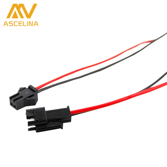 10 pairs LED strip Connector 2pin cables 15cm Terminals red black ...