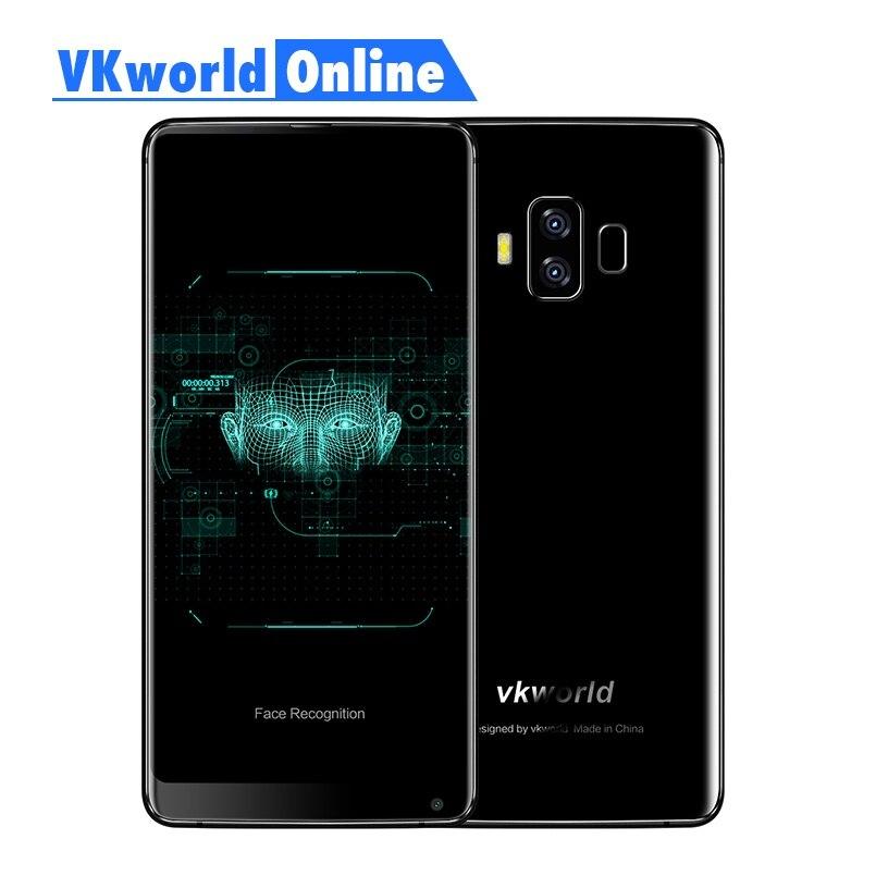 Vkworld S8 5.99 Pouce FHD Téléphone Mobile 2160X1080 5500 mAh Visage ID 4 GB Ram 64 GB Rom MTK6750T Octa Core Double Caméra 4G Smartphone