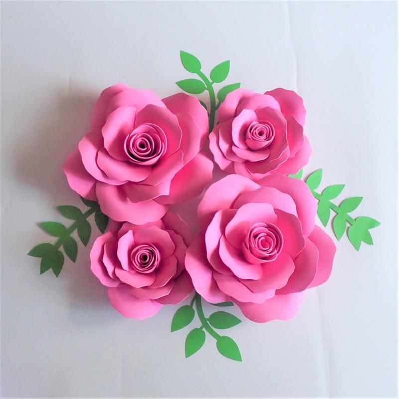 2018 Giant Foam Paper Flowers Backdrop 4pcs Leaves 4pcs