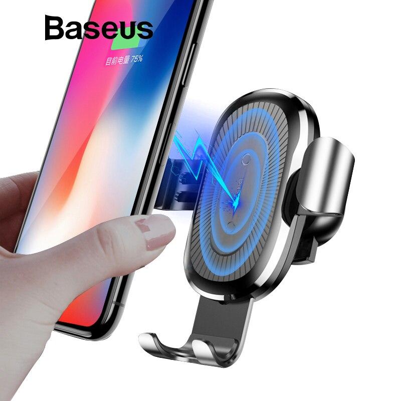 Baseus Auto Montieren Qi Drahtlose Ladegerät Für iPhone X 8 Plus Quick Charge Schnelle Drahtlose Lade Auto Halter Stehen Für samsung S9 S8