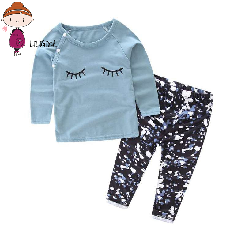 Toddler Kid Clothes Sets Baby Girls Clotheing Suit Spring Clothes Long Sleeve T-shirt Tops+Pants Baby Girl Clothing Set Hot Sale