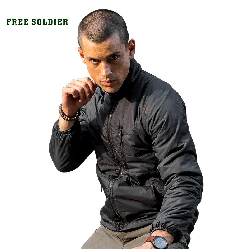 FREE SOLDIER Outdoor tactical camping hiking storm jacket insulated jacket with sintepon lining men s jacket