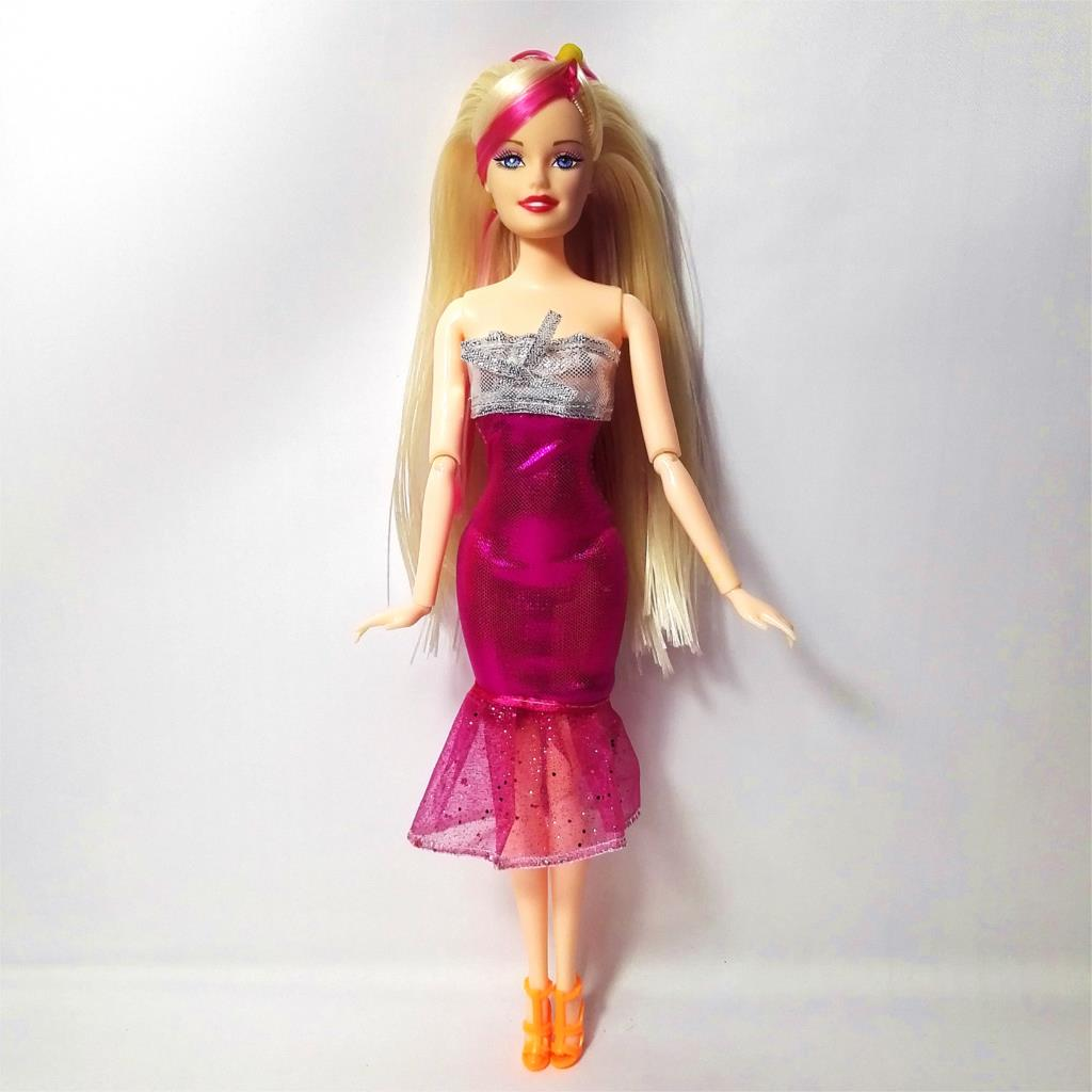 2017 oem Newest Doll Dress Beautiful Handmade Party ClothesTop Fashion Dress For Barbie Noble Doll Best Child GirlsGift 02aa