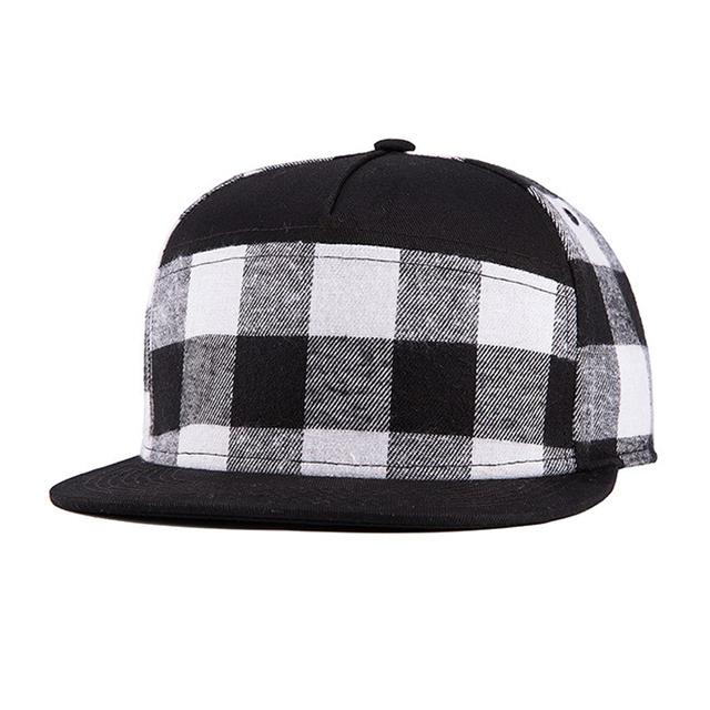 Estilo britânico xadrez clássico de Alta qualidade chapéus cinco painel boné de beisebol para homens e mulheres plana-brimmed chapéus 509