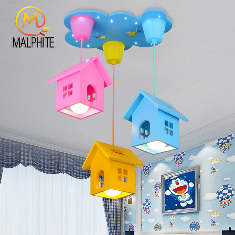 Modern Children Room Pendant Lights Boys and Girls Bedroom Hanglamp Pendant Lamp Lighting Fixtures Nordic Home Decor Luminaire