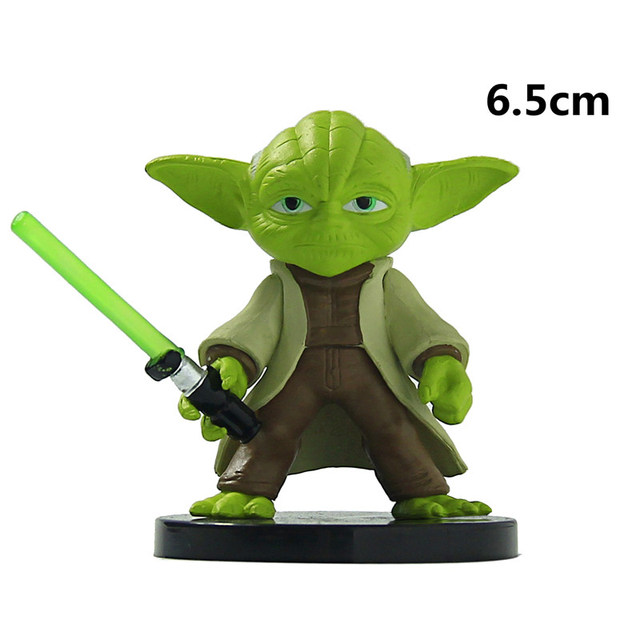 Star Wars 6cm Yoda Darth Vader R2-D2 Robot Stormtroopers Action Figure Model Toy  Warrior Stormtrooper Robot Vader Yoda Toy Gift
