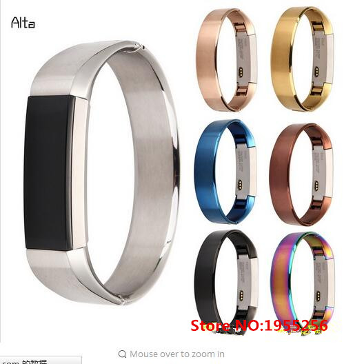 7 Colors New Arrival  Metal 316 Stainless Steel Watch Band Replacement Strap For Fitbit Alta Tracker Bracelet High Quality crested milanese loop strap metal frame for fitbit blaze stainless steel watch band magnetic lock bracelet wristwatch bracelet