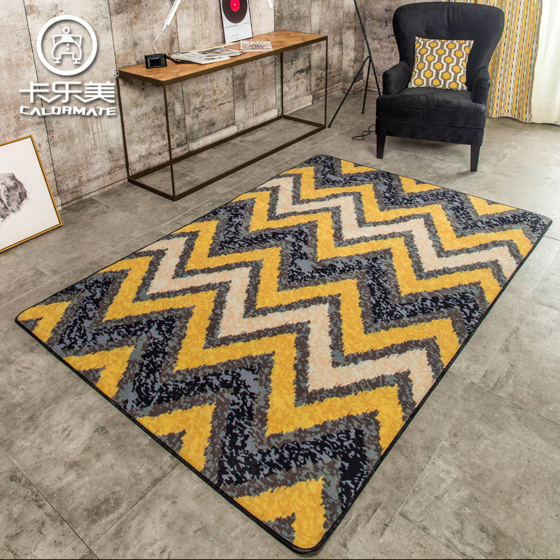 New American brief modern personality geometry sofa coffee table carpet yellow bed mats