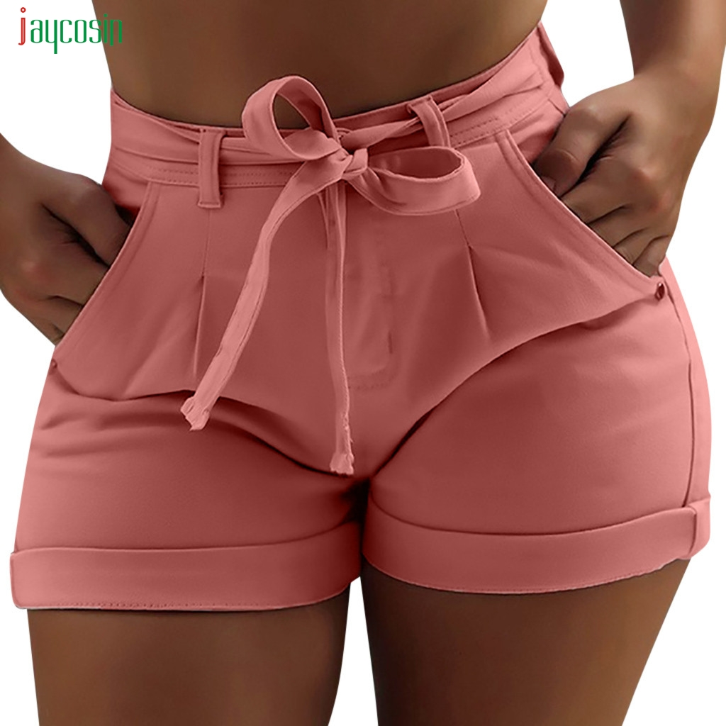 Jaycosin Fashion Women Summer High Waisted Denim Shorts Jeans Women Short New Femme Push Up Skinny Slim Denim Shorts Hot Sales