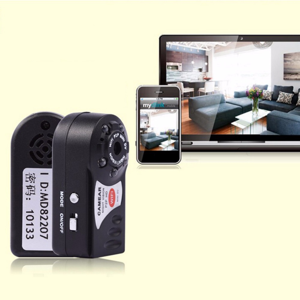 P2P Mini Wifi DVR IP Camera Videcam Webcam32G card&Camcorder Video Recorder suit Amateur monitoring Built in lithium battery