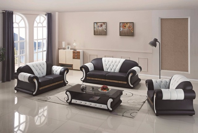 FREE SHIPPING TO WASHINTON DC!! Armchair Design Home Furniture Modern  Genuine Leather Sofa With Table