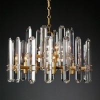 Luxury American RH Big Crystal Led Chandelier Living Room Post Modern Chandelier Lighting Lustre Pendant Chandelier Hanging Lamp