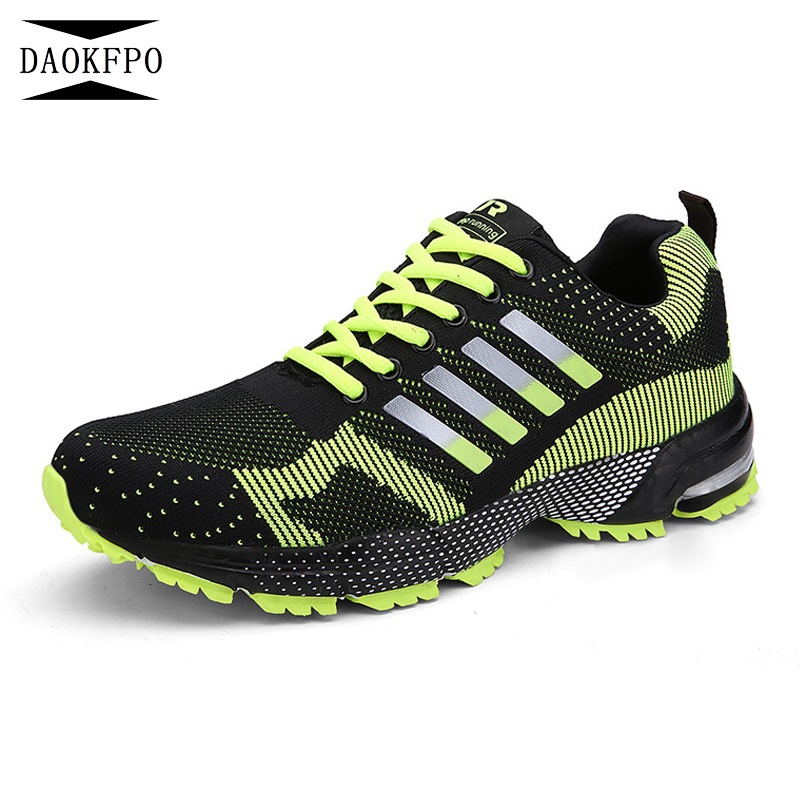 DAOKFPO Plus size 35-46 high quality 2018 women shoes unisex casual shoes light weige Breathable Fashion shoes sneakers 5 colour