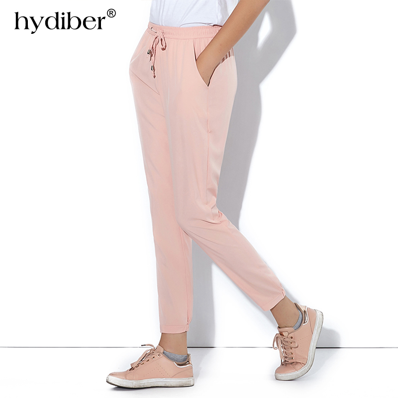 2018 summer new Casual Loose Chiffon trousers Women Pants Ladies Ankle Length Pencil Pant Female harem Bottoms clothes plus size