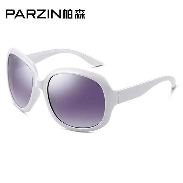 PARZIN Women Brand Designer Sunglasses Square Elegant Female Spectacles Big Frame Driving Sun Glasses With Logo Box 6216