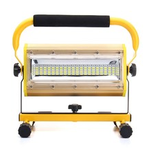 3 Colors Rechargeable 100W Portable LED Floodlight Work Light 100 LED Spot Flood Light Working Camping Lamp Outdoor Lighting