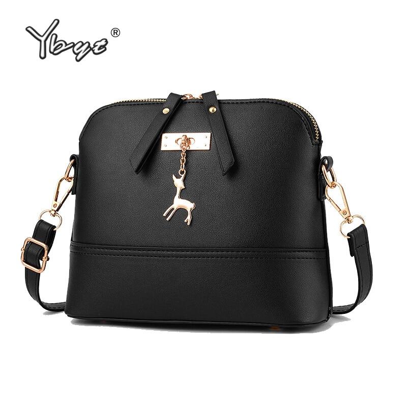 YBYT Brand 2018 New Women Shoulder Bags Simple Fashion Shell Shape Women Small Messenger Crossbody Bag Ladies Zipper HandBags