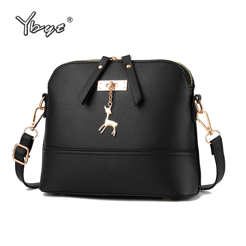 YBYT Brand 2018 New Women Shoulder Bags Simple Fashion Shell Shape Women Small Messenger Crossbody Bag Ladies Zipper HandBags
