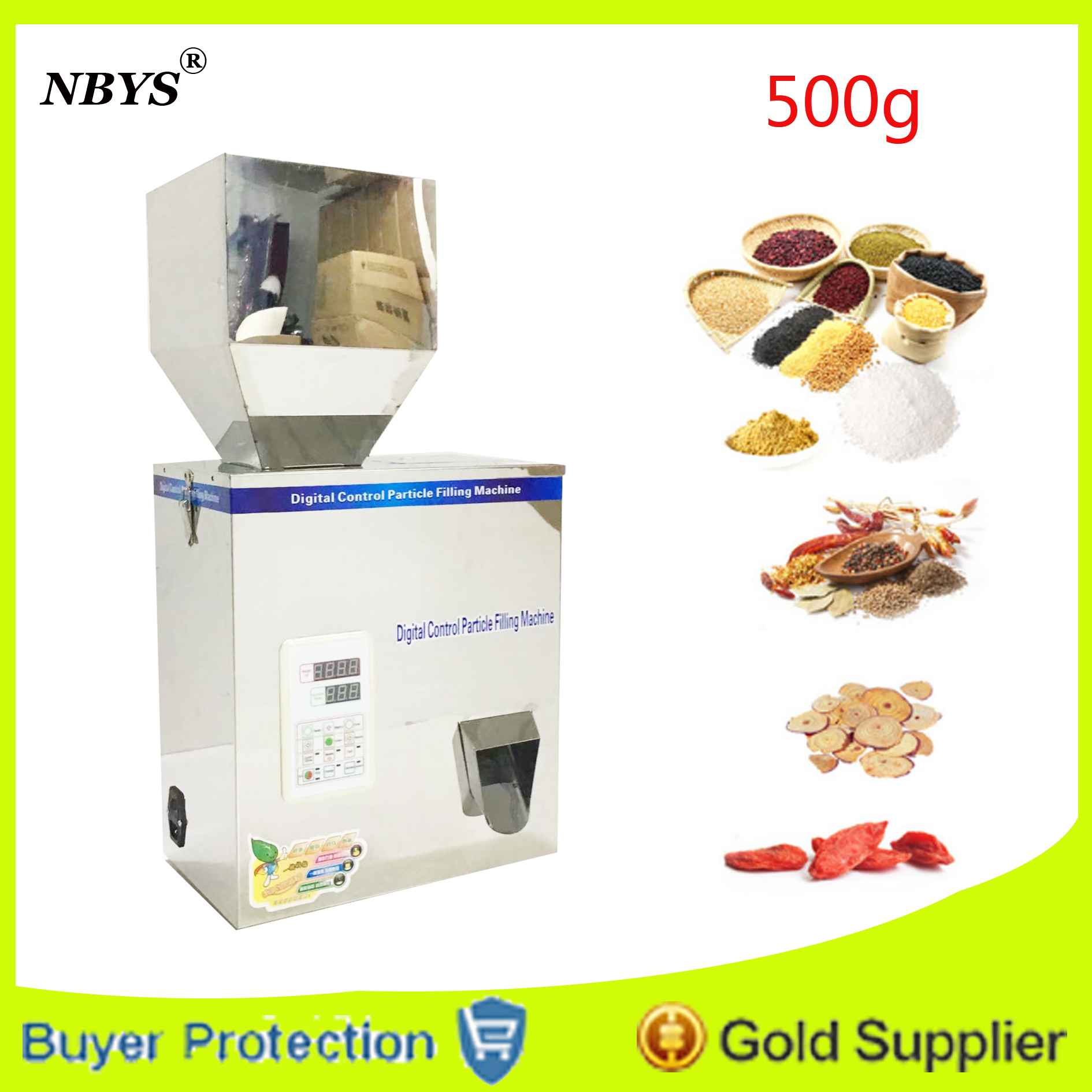 500g model Automatic Small scale herb capsules filling and weighing machine tea leaf packing machine particle racking machine Бутылка