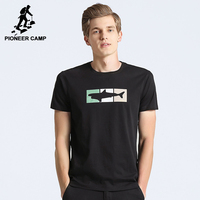 Pioneer camp хлопчатобумажных рыбы шаблон т рубашки мужчин бренд clothing короткое лето футболки мужской красное вино черный тис adt702264