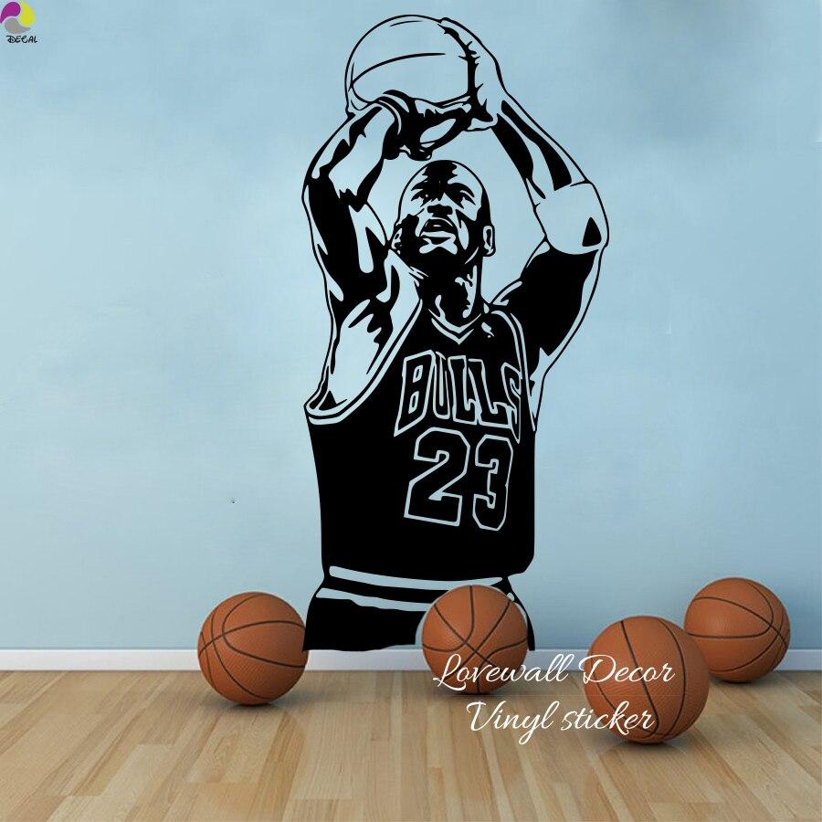 nouvelle arrivee 2050d 3463b € 7.58 10% de réduction|Chicago Bulls Michael Jordan Sticker mural salon  NBA joueur de basket ball Sticker mural chambre d'enfants chambre d'enfants  ...