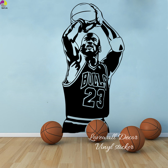 Chicago Bulls Michael Jordan Wall Sticker Living Room Nba Basketball Player Decal Kids Children