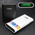 Tomo v8-4 portátil 18650 cargador de batería caja de visualización inteligente powerbank banco de la energía 5 v 2a para todos los teléfonos móviles