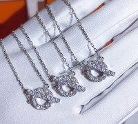 Designer fashion 925 sterling silver 3A cubic zirconia OT necklace for women luxury brand OT lock pendant choker
