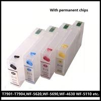 XIMO 10 Sets T7901 T7904 Refillable Ink Cartridge For Epson WF 5110DW WF 5190DW WF 5620DWF