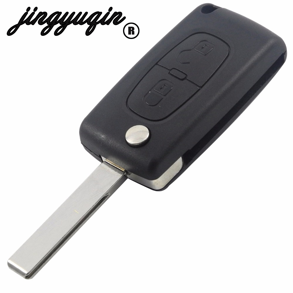 HCA/VA2 2Button Flip Remote Car Key Shell For Peugeot 307 408 308 for Citroen C2 C5 C6 C8 Xsara Picasso CE0523 Ce0536 Battery(China)