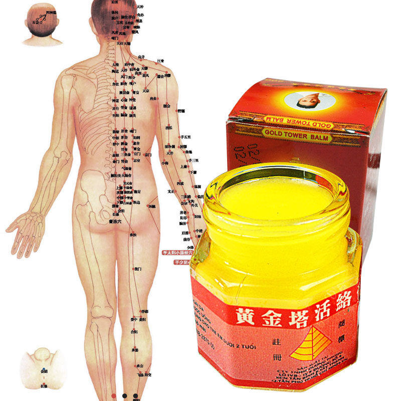 Vietnam Gold Tower Balm 20g/bottle Relieving Itching Muscle Joints Rheumatism Pain-Killer Detumescence Ointment Active Cream