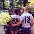 Вместе, Так Как Соответствующие Пары Футболка Любовь Годовщину Брака Топы Футболки Пользовательские Ваш Год Цвет Мужчины Женщины Футболка