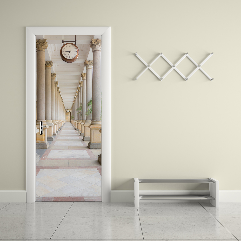 High Quality Creative 3D DIY Door Stickers Wallpaper Engraved Calorie Colonnade Corridor Self - Adhesive Home Decoration