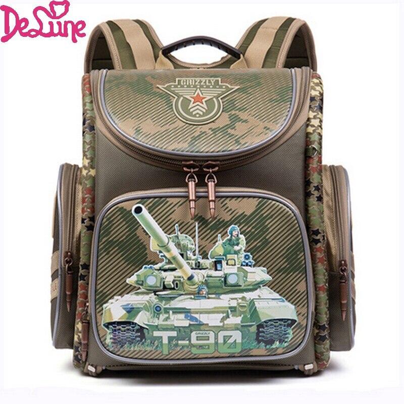 Children School Bags for Boys Racing Cars Military Theme font b Backpacks b font EVA Folded