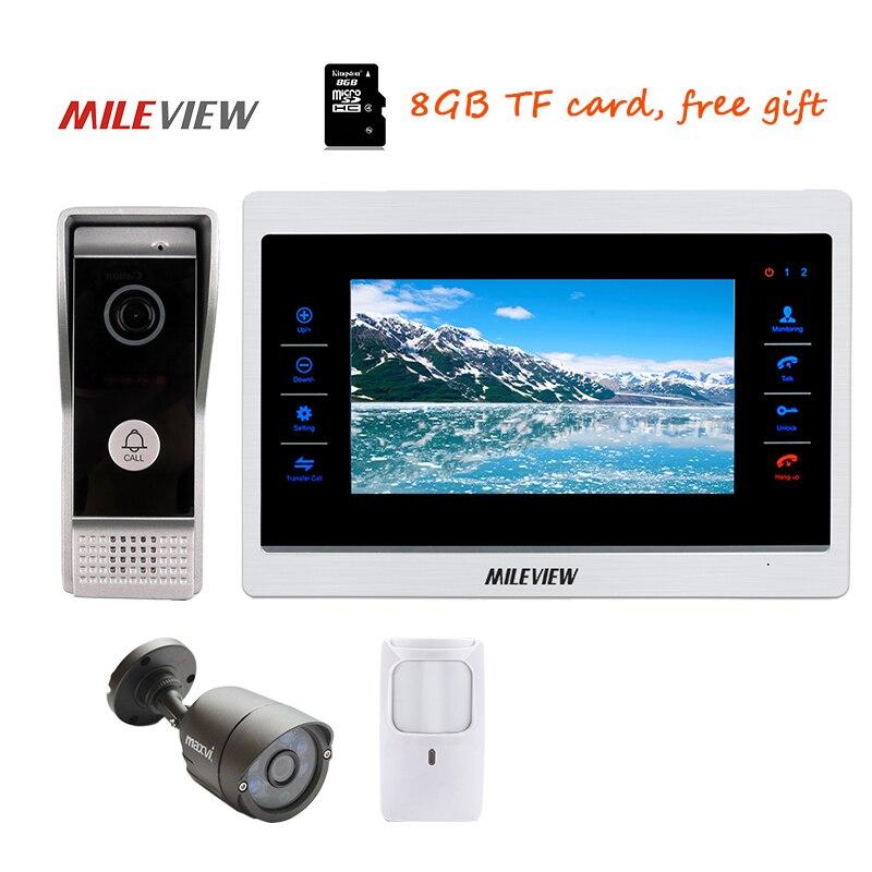 Free Shipping 10 Screen Video Intercom Door Phone Recording System 800TVL Door Camera 11 ...