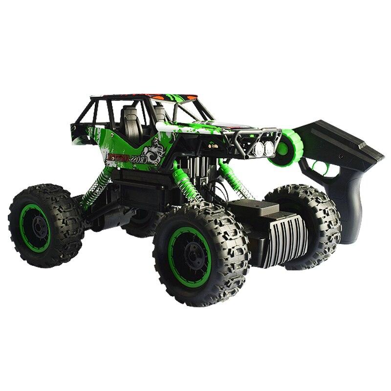 Электрический RC автомобиль 4 колеса бездорожью гусеничные рок с двойной Двигатели для сильной способность преодолевать дети мальчик подар... ...