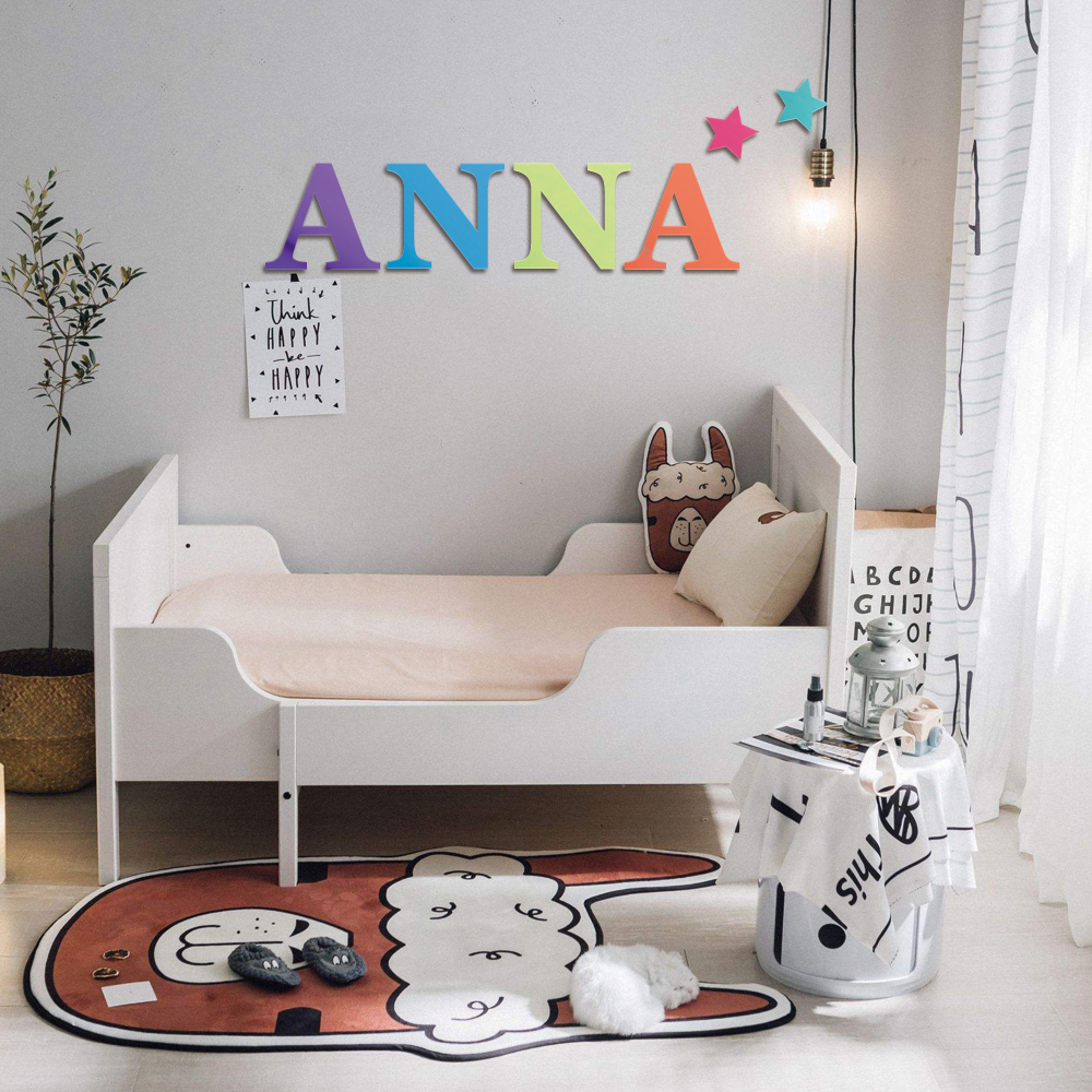 Large Wood Letters For Crafts Wall Art Decoration Capital Alphabet Letters DIY Wooden Single Hanging Ornaments