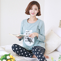 Maternity Nursing Pajamas Outdoor Clothes Sets Autumn Cotton Pattern Leisure Sleep Wear Pregnant Women Breastfeed Tops Pants Set