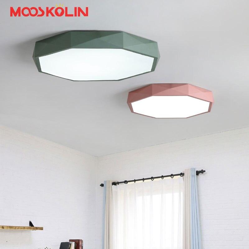 Plafonniers ultraminces Ruond lampes pour salon chambre balcon cuisine lustres de sala maison Dec LED lustre plafond