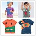 Мальчики Футболка 2016 летний новый детская одежда мальчиков майка дети футболки хлопок мультфильм детская одежда