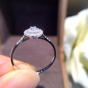 Image 3 - 天然ダイヤモンドリング 18 18k 純金結婚式本物の 750 固体クラシックトレンディ女性ホット販売プレゼントドロップ配送パーティー 2020 新