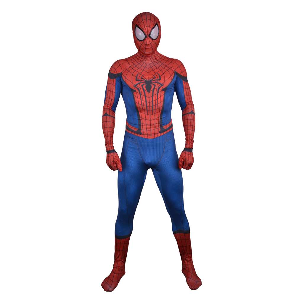 New Spiderman <font><b>Costume</b></font> Adult <font><b>The</b></font> <font><b>Amazing</b></font> Spider Man Cosplay Spandex Full Body Skin Suit <font><b>Spider-Man</b></font> Homecoming Superhero <font><b>Costume</b></font>