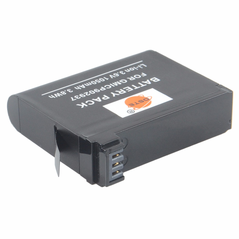 DSTE 2x GMICP902937 Rechargeable Battery for Garmin VIRB ULTRA 30 Sports Camera