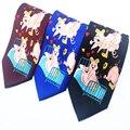 Divertido Sexy Corbatas Corbatas para Hombres Amor Animal de Cerdo Negro Gravata azul Rojo Nuevos Diseñadores de Moda de Hombre de Partido de Impresión Novedad empate