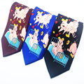 Funny Sexy Pig Ties for Men Love Animal Neckties Black Blue Red New Designers Fashion Party Man Print Gravata Novelty Tie